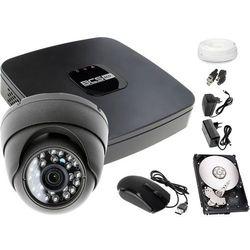 Monitoring telewizja przemysłowa BCS: Rejestrator BCS-XVR0401E, 1x Kamera LV-AL25HD, 1TB, akcesoria