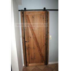 Drzwi przesuwne ze starego drewna sosnowego