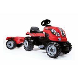 SMOBY Traktor XL czerwony + przyczepa