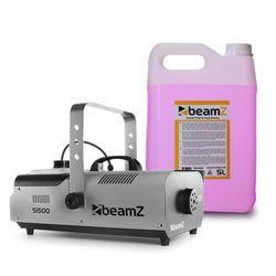Beamz S1500 Wytwornica mgły z 5 l fluidu do wytwarzania mgły 1500 W DMX