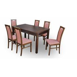 """Zestaw """"DIVA"""" stół + 6 krzeseł - pomarańczowy"""