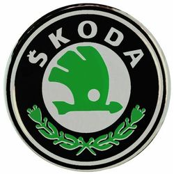 Emblematy silikonowe 56 mm na felgi do SKODA