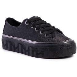 Sneakersy TOMMY HILFIGER - Tommy Sparkle Flatform Sneaker Gunemetal 0GQ
