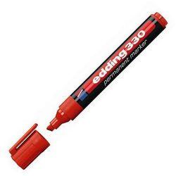 EDDING Marker permanentny e-330, 1-5mm, ścięta końcówka, czerwony