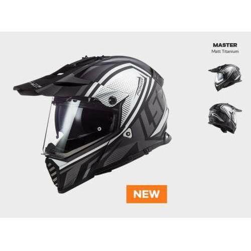 Kaski motocyklowe, KASK MOTOCYKLOWY ENDURO OFF ROAD LS2 MX436 PIONEER EVO MASTER MATT TITAN - nowość 2021 roku