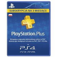 Kody i karty przedpłacone, Abonament SONY Playstation Plus 90 dni
