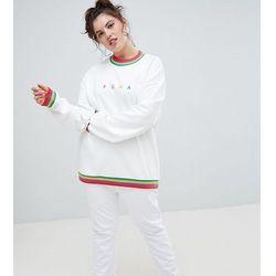 Puma Plus Exclusive Organic Cotton Rainbow Sweatshirt In White - White
