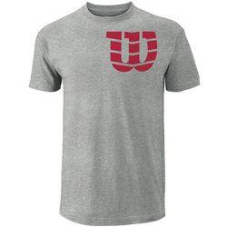 Wilson koszulka tenisowa M Shoulder W Cotton Tee He Grey/Red S - BEZPŁATNY ODBIÓR: WROCŁAW!