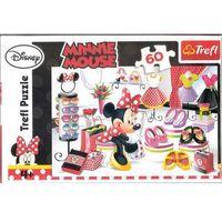 Puzzle, Trefl Disney Puzzle 60 Myszka Minnie Zakupowe szaleństwa Minnie
