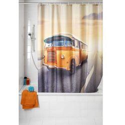 Zasłona prysznicowa, tekstylna, Vintage Bus, 180x200 cm, WENKO