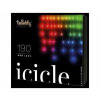 Ozdoby świąteczne, TWINKLY Inteligentne lampki choinkowe 90 lampek RGB BT+WiFi, sople