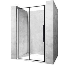 Drzwi prysznicowe szerokość 120 cm czarne profile Solar Rea UZYSKAJ 5 % RABATU NA DRZWI