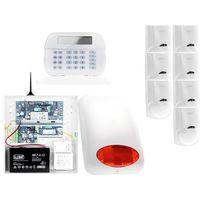 Zestawy alarmowe, ZA12545 Zestaw alarmowy DSC 7x Czujnik ruchu Manipulator LCD Powiadomienie GSM