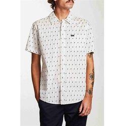 koszula BRIXTON - Charter S/S Wvn White/Black (WHBLK) rozmiar: M