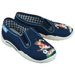 REN BUT 33-371 LP-0823 jeans niebieski, kapcie dziecięce, rozmiary: 26-35 - Granatowy