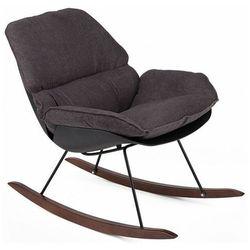 Ciemnoszary fotel na biegunach do salonu - Diano 3X