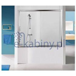 Sanplast Drzwi przesuwne nawannowe D2-W/TX5b-140-S sbW0 czyste szkło 600-271-1540-38-401