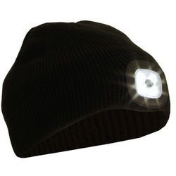 Czapka z latarką czołową LED Glovii
