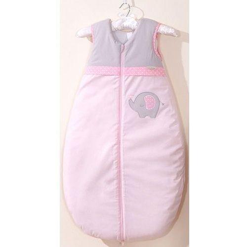 Śpiworki dla niemowląt, MAMO-TATO Śpiworek niemowlęcy do 18 m-ca haftowany Słonik różowy