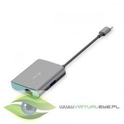 i-tec USB-C Metal HUB z adapterem Gigabit Ethernet 1x USB-C do RJ-45, 10/10/1000 Mbps 1x port USB 3.0