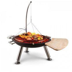 Blumfeldt Turion grill odchylany / obrotowy wiszący misa paleniskowa Ø80cm BBQ