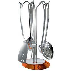 Casa bugatti - glamour - zestaw 5 przyborów na stojaku pomarańczowym
