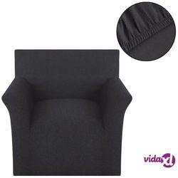 vidaXL Elastyczny pokrowiec na fotel, z dżerseju, antracytowy Darmowa wysyłka i zwroty