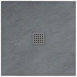 Rea Grey Rock brodzik kwadratowy 90x90 cm szary REA-K4585