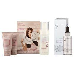 Alfaparf Keratin Therapy Kit and SP Liquid Hair | Zestaw do prostowania oraz regeneracji włosów: keratynowe prostowanie + serum 100ml