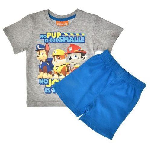 Piżamy dziecięce, Piżama dla dzieci Psi Patrol szara z krótkim rękawem - Niebieski ||Szary