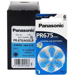 120 x baterie do aparatów słuchowych Panasonic 675 / PR675 / PR44
