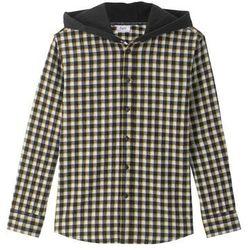 Koszula z kapturem bonprix czarno-żółty w kratę