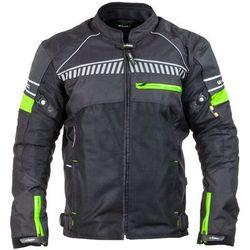 Męska kurtka motocyklowa W-TEC Meltsch NF-2301, Czarno-zielony neonowy, WXL