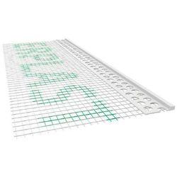 Listwa PCV zakończeniowa odcinająca z siatką A=100mm B=3mm L=2,5mb - pakiet 50szt.
