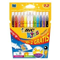 Flamastry BiC Kids Colour & Erase 10+2 kolory