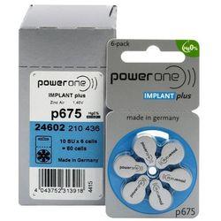 60 x baterie do aparatów słuchowych Power One Implant Plus 675 MF