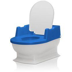 Nocnik z wyjmowanym pojemnikiem małe wc REER - biało-niebieski