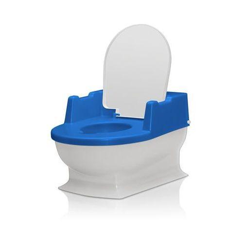 Nocniki i nakładki, Nocnik z wyjmowanym pojemnikiem małe wc REER - biało-niebieski