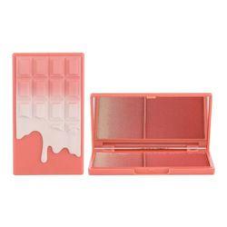 Makeup Revolution London I Heart Makeup Chocolate Duo Palette rozświetlacz 11,2 g dla kobiet Peach And Glow