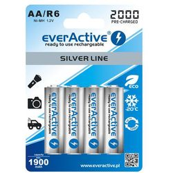 Akumulatorki EVERACTIVE Ni-MH R6 AA 2000 mAh Silver Line (4 szt.)