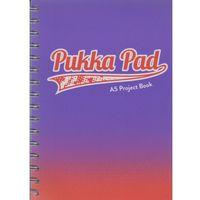 Zeszyty, Kołozeszyt Pukka Pad Project Book Fusion a5 200k kratka fioletowy 8415-fus