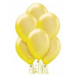 Balony lateksowe średnie - 10 cali - żółte - 100 szt.