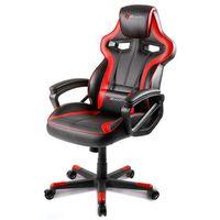 Fotele dla graczy, Fotel AROZZI Milano Czarno-czerwony + DARMOWY TRANSPORT!