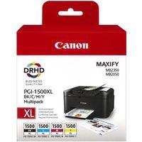 Tonery i bębny, Canon oryginalny ink PGI-1500XL Bk/C/M/Y multipack, black/color, 9182B004, Canon MAXIFY MB2050, MB2350