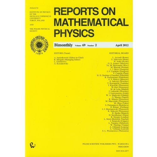 Matematyka, Reports on Mathematical Physics 69/2 Kraj (opr. miękka)