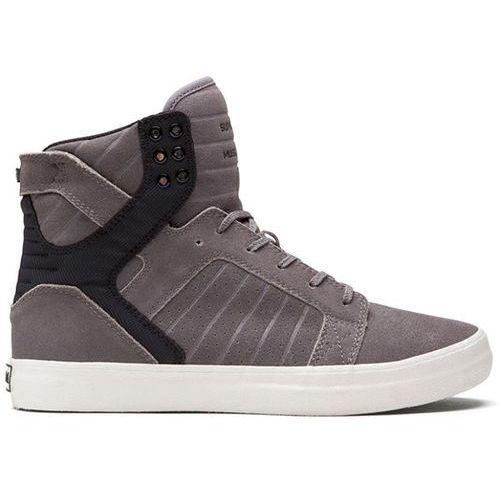 Męskie obuwie sportowe, buty SUPRA - Skytop High Grey/Black (GBW) rozmiar: 45.5