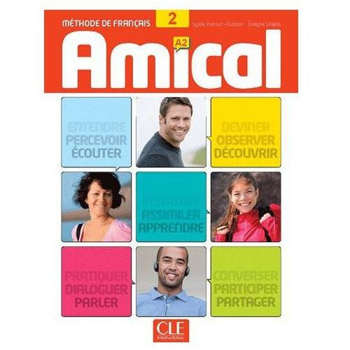 Książki do nauki języka, Amical 2 podręcznik CD audio klucze i transkrypcje (opr. miękka)