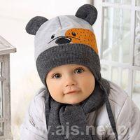 Zestawy dodatków dla dzieci, AJS 38-422 Czapka+szalik komplet