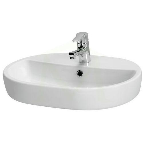 Umywalki, Umywalka nablatowa 600 x 420 mm Cersanit Caspia Oval K11-0099 - WYSYŁKA 24h, odbiór osobisty w WARSZAWIE i POZNANIU