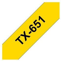Brother oryginalna taśma do drukarek etykiet, Brother, czarna/żółta 8m, 24mm (TX651) Darmowy odbiór w 20 miastach!